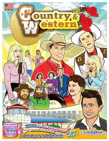 Country and Western 'A Gold Standard' Coloring and Activity Book with Song