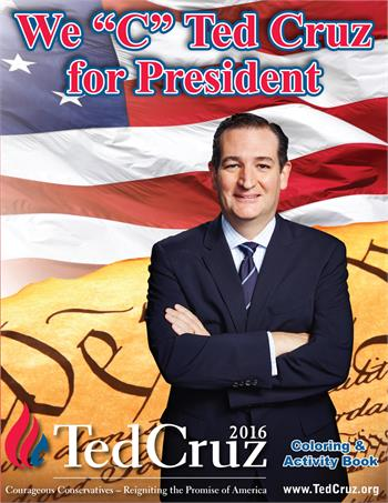 "We ""C"" Ted Cruz for President Coloring Book"