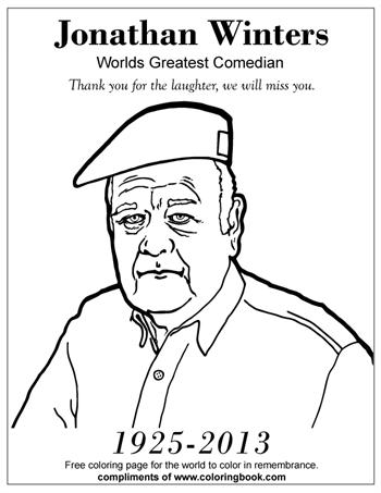 Johnathan Winters Coloring Page