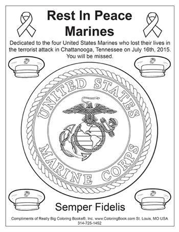 RIP Marines - Free Coloring Page
