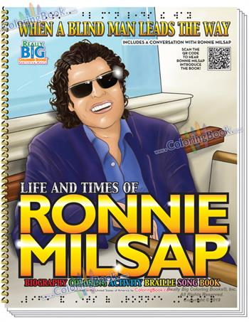 Ronnie Milsap Biography Deluxe Coloring Activity Braille Song Book