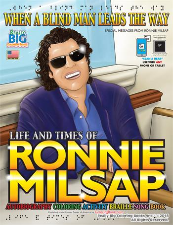 Ronnie Milsap Braille Coloring and Activity Book with Music