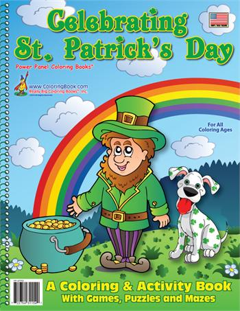 Celebrating St. Patricks Day Power Panel Coloring Book
