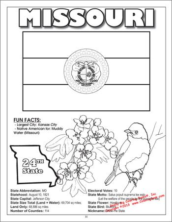 The 50 States Educational Coloring Activity Book For