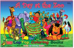 A Day at the Zoo LapTop Coloring Book