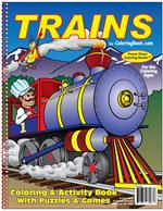 Trains Power Panel Coloring Book