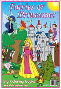Coloring Book of Fairies and Princesses