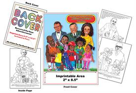 African American Leaders Imprintable Coloring Books