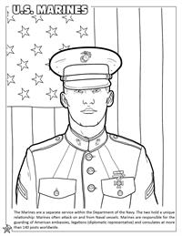 U.S. Marines coloring page