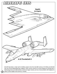 Aircraft - Jets coloring page