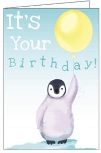 Birthday Penguin Really Big Greeting Card