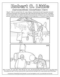 Robert C. Little – Aeronautical American Hero - Free Coloring Page