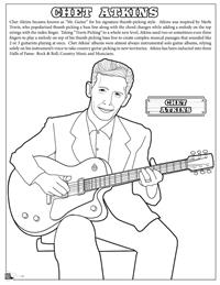 Country and Western Coloring Book - Chet Atkins