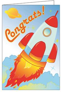 Congratulations - Space Really Big Greeting Card