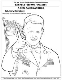 American Hero Remsburg - Free Coloring Page
