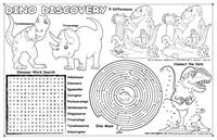 Dino Coloring Placemat