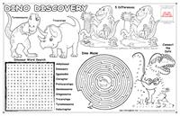 Dino Discovery Colorable Placemat with