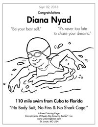 Diana Nyad - Free Online Coloring Pages