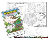 Dinosaurs - 8 page Coloring Book w/ Song that unfolds into a Placemat©