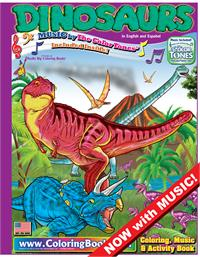 Dinosaurs Really Big Coloring Book with Dinosaurs Song