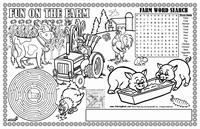 Fun on the Farm Colorable Placemats