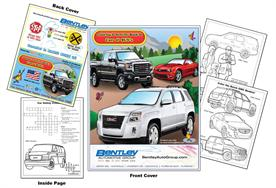 Cars & SUVs - GMC Imprintable Coloring Book