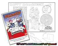 Halloween - 8 page Coloring Book w/ Song that unfolds into a Placemat©