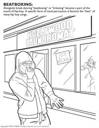 Hip Hop Gangsta Rap Coloring Book