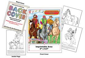 Horses - Imprintable Coloring & Activity Book with Song