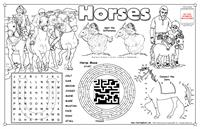 Horses Colorable Placemat with