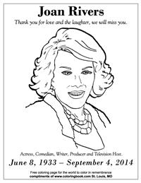 Joan Rivers coloring page