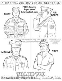 military thank you coloring pages - photo#11