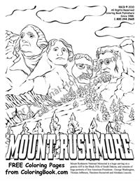 Coloring Pages Free Online Coloring Pages Mt Rushmore
