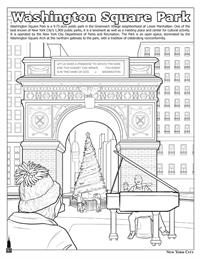 New York City Coloring and Activity Book - Washington Square Park