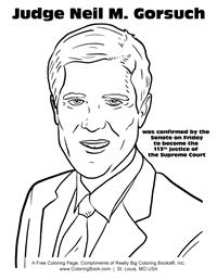 Judge Neil M. Gorsuch - Free Online Coloring Pages