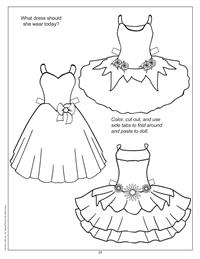 paper doll dress cutouts