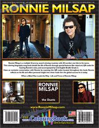 Ronnie Milsap Biography Deluxe Coloring Activity Braille Song Book - back