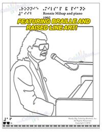 Ronnie Milsap Biography Deluxe Coloring Braille Song Book