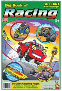 Racing Giant Tablet Coloring Book
