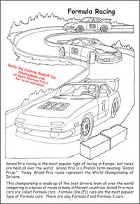 Nascar Coloring Books