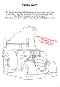 Funny Car Coloring Pages