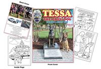 Tessa the Drug Dog Custom Coloring Book