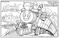 Trains Coloring Mat