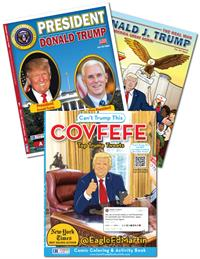 Donald Trump 3-pack of books (President, Covfefe, Candidate)