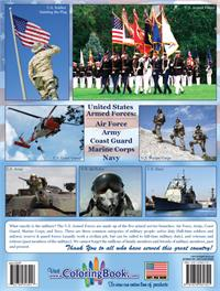U.S. Armed Forces Military Coloring & Activity Book - back cover
