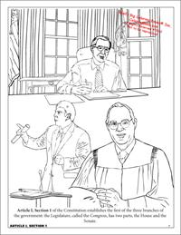 Constitution Coloring Page