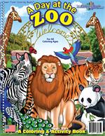 Zoo Animals Power Panel Coloring Book