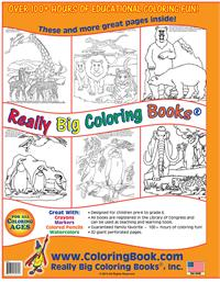 Zoo Animals Really Big Coloring Book back cover