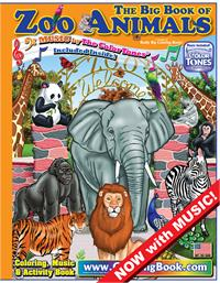 Zoo Animals Really Big Coloring Book with song