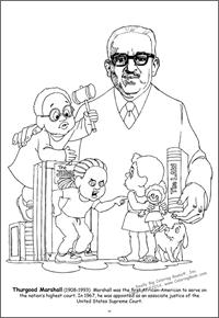 Thurgood Marshall Giant Tablet Coloring Book